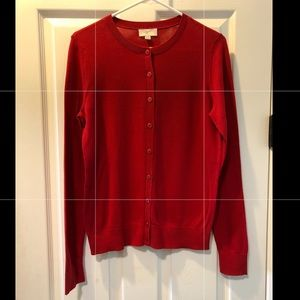 LOFT Outlet red cardigan - Medium